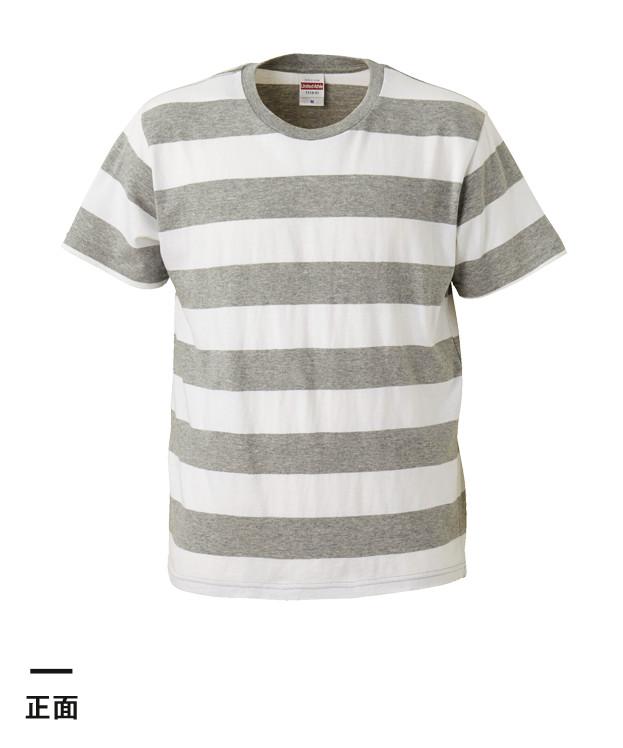 5.0オンス ボールドボーダーショートスリーブTシャツ(5518-01)正面