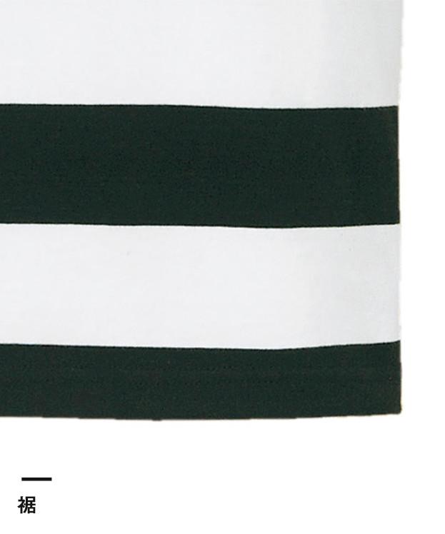 5.0オンス ボールドボーダーショートスリーブTシャツ(5518-01)裾