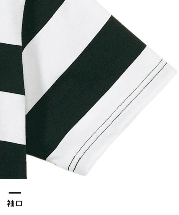 5.0オンス ボールドボーダーショートスリーブTシャツ(5518-01)袖口
