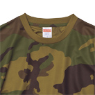 4.1オンス ドライアスレチックカモフラージュTシャツ(5906-01)襟元