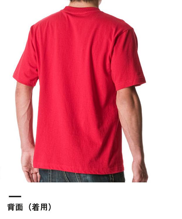 6.2オンス プレミアムTシャツ(5942-01)背面(着用)