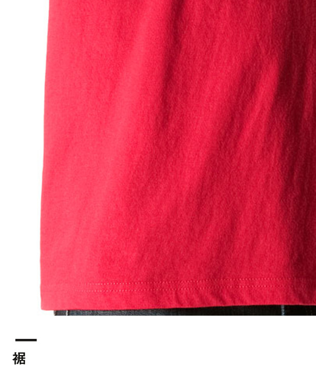 6.2オンス プレミアムTシャツ(5942-01)裾