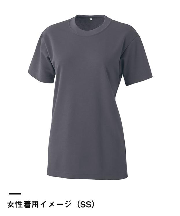 エアレットTシャツ(AIR-010)女性着用イメージ(SS)
