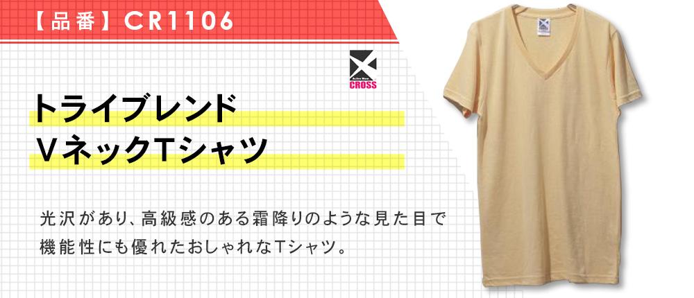 トライブレンドVネックTシャツ(CR1106)16カラー・5サイズ