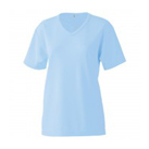 エクスライブVネックTシャツ(EKS-330)女性着用イメージ(SS)