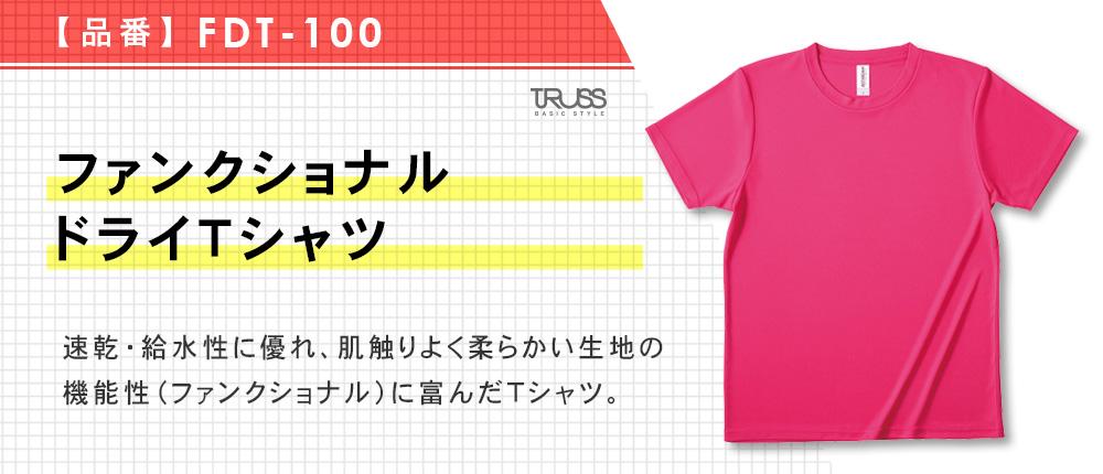 ファンクショナルドライTシャツ(FDT-100)17カラー・11サイズ