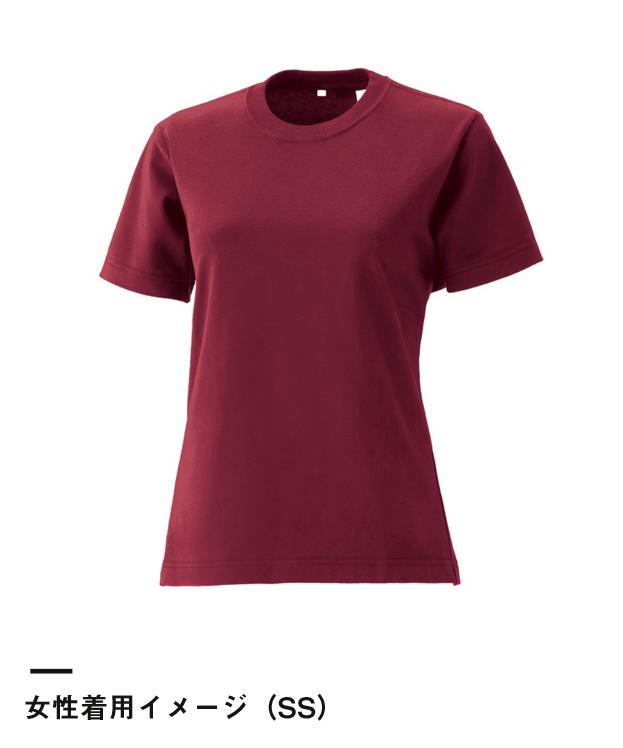 国産極(きわみ)Tシャツ日本製(JT-302S)女性着用イメージ(SS)