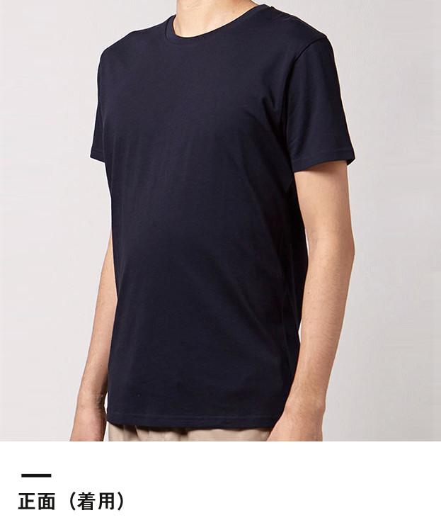オーガニックコットンクルーネックTシャツ(MS0301)正面(着用)