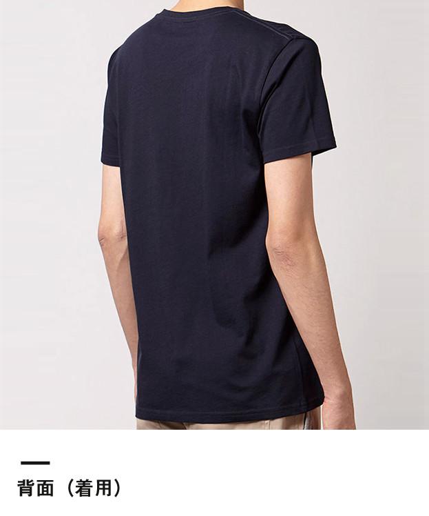 オーガニックコットンクルーネックTシャツ(MS0301)背面(着用)