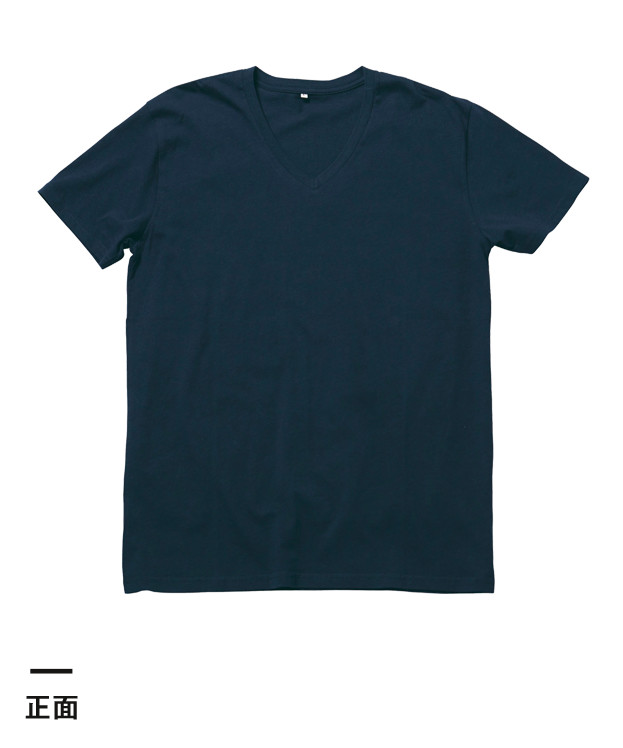 オーガニックコットンVネックTシャツ(MS0302)正面