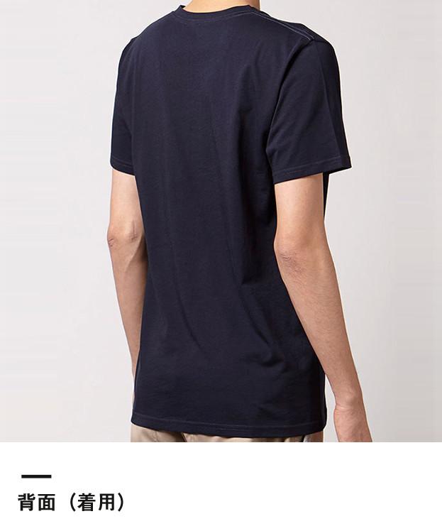 オーガニックコットンVネックTシャツ(MS0302)背面(着用)