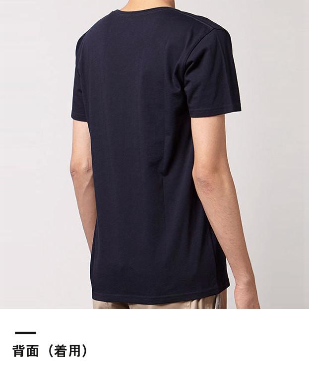 オーガニックコットンUネックTシャツ(MS0303)背面(着用)