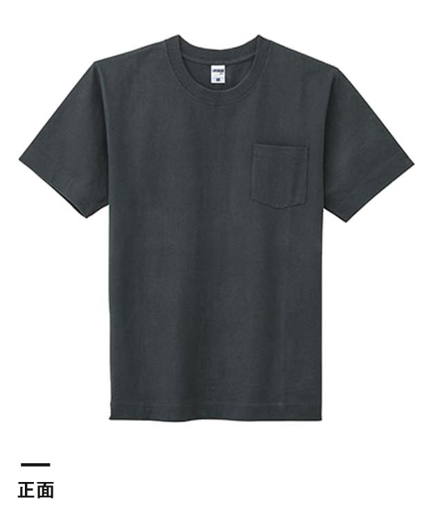 10.2オンス スーパーヘビーウェイトポケット付きTシャツ(MS1151)正面