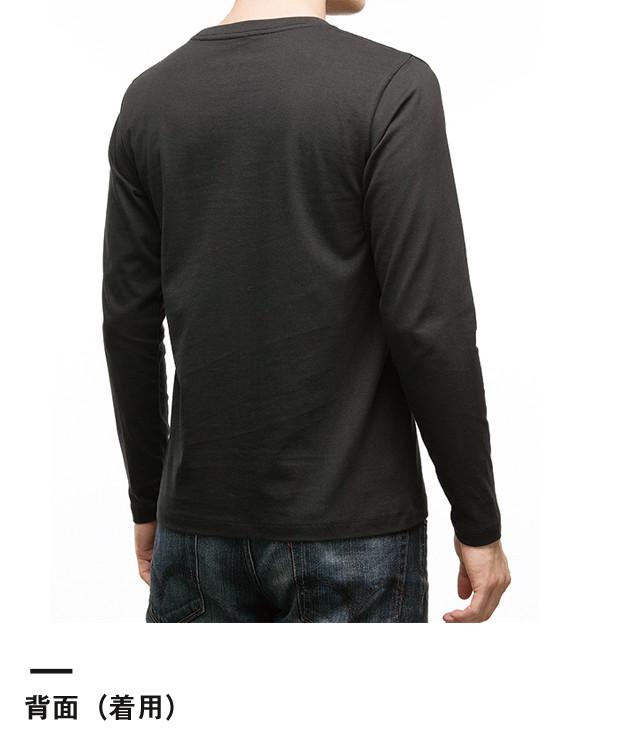 5.3オンス ユーロロングTシャツ(MS1605)背面(着用)