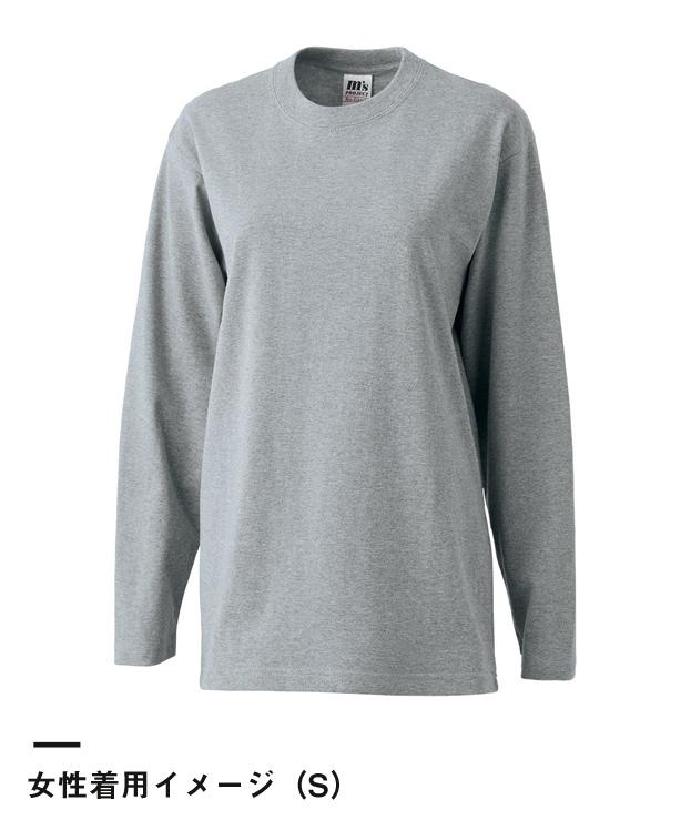 ニマルタン 長袖Tシャツ(NEO-60L)女性着用イメージ(S)