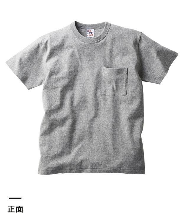 オープンエンドマックスウェイトバインダーネックポケットTシャツ(OE1119)正面