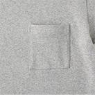 オープンエンドマックスウェイトバインダーネックポケットTシャツ(OE1119)スクエア型ポケット