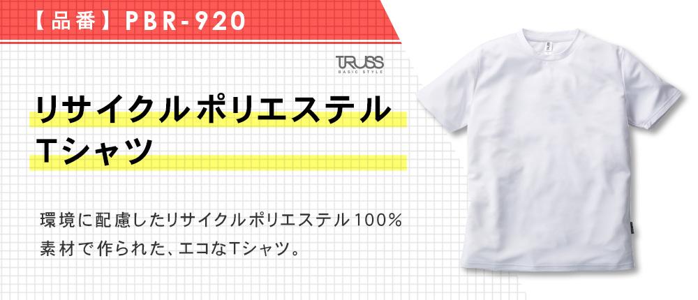 リサイクルポリエステルTシャツ(PBR-920)3カラー・5サイズ