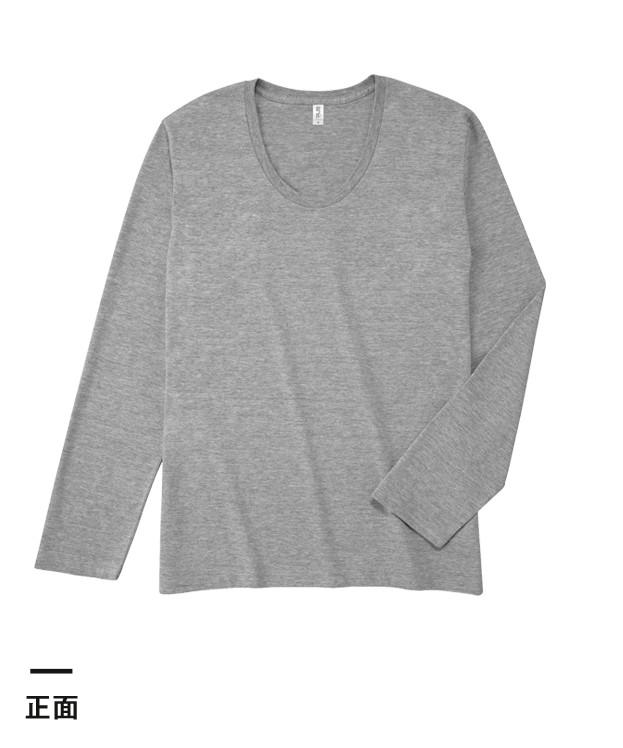 スリムフィットUネックロングスリーブTシャツ(SUL-116)正面