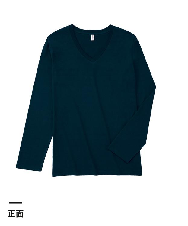 スリムフィットVネックロングスリーブTシャツ(SVL-115)正面