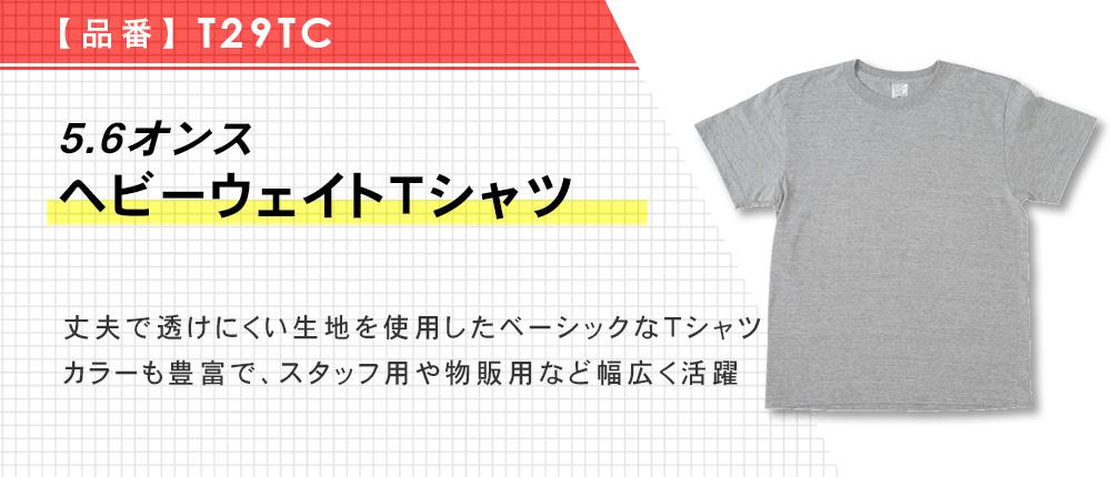5.6オンス ヘビーウェイトTシャツ(T29TC)10カラー・8サイズ