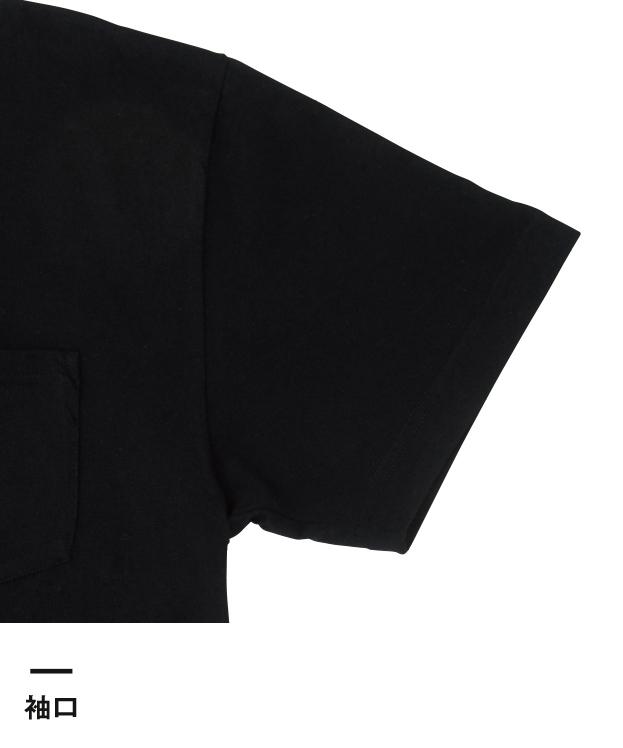 5.6オンス ヘビーウェイトTシャツ ポケ付き(T30CP)袖口
