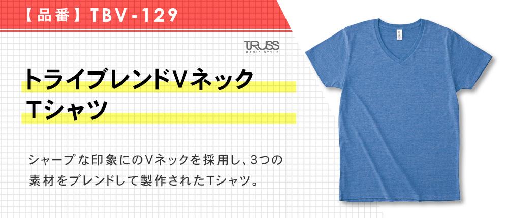 トライブレンドVネックTシャツ(TBV-129)11カラー・4サイズ