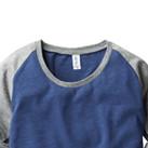 トライブレンドラグラン7分袖Tシャツ(レディース)(TQS-121)襟