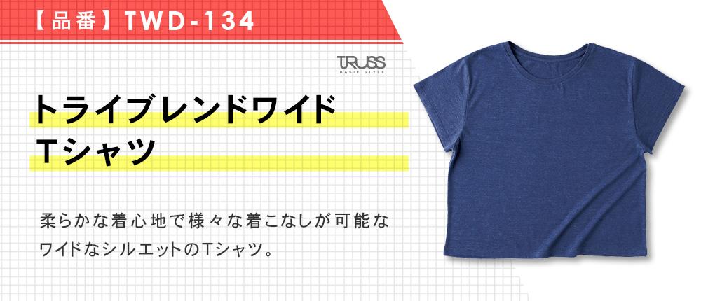 トライブレンドワイドTシャツ(TWD-134)5カラー・1サイズ