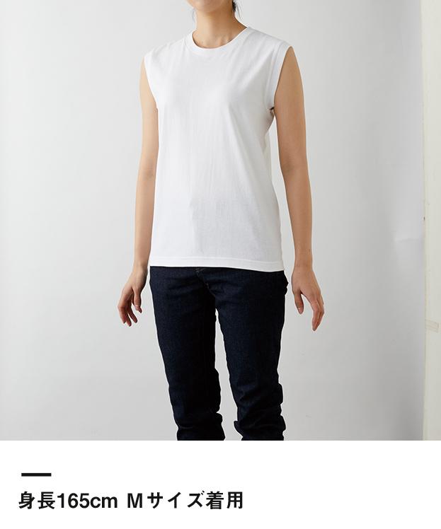 ウィメンズ ノースリーブTシャツ(WOS-808)身長165cm Mサイズ着用