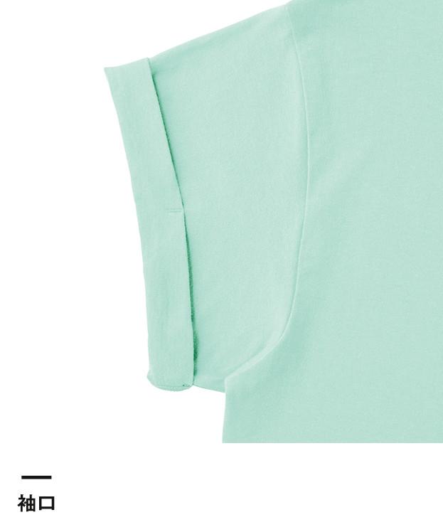 ウィメンズロールアップTシャツ(WRU-806)袖口