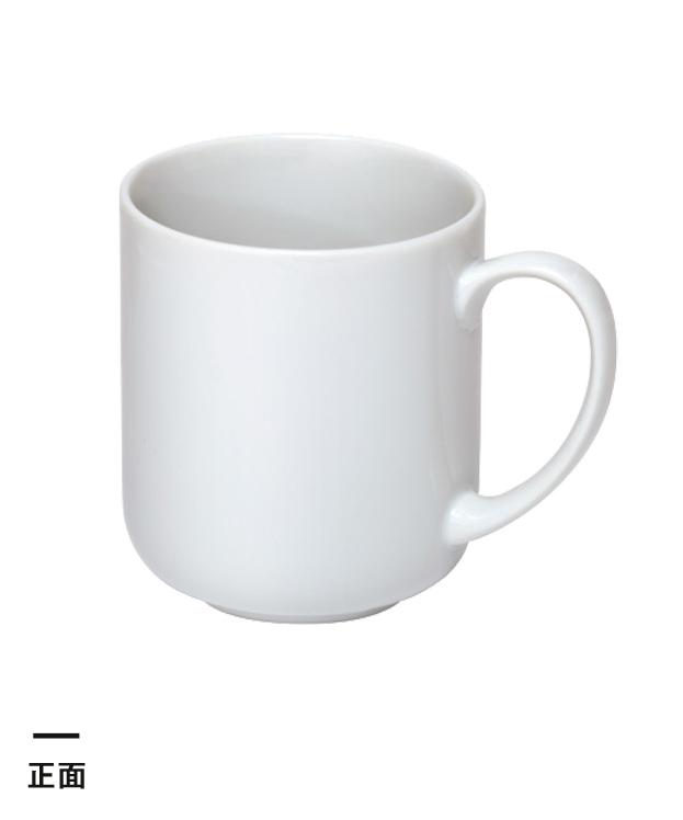 マグカップ・ラウンドタイプ大(300ml)(白)(069048)正面