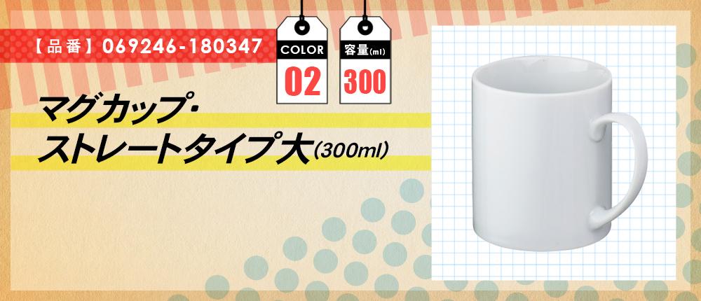マグカップ・ストレートタイプ大(300ml)(069246-180347)2カラー・容量(ml)300
