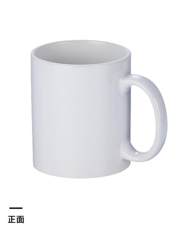 フルカラー転写対応陶器マグカップ(320ml)(白)(109546)正面