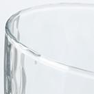 炭酸水グラス(フリーカップ)(275ml)(クリア)(121852)表面に模様の入った雰囲気のあるグラス