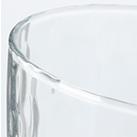 炭酸水グラス(大)(305ml)(122057)表面に模様の入った雰囲気のあるグラス