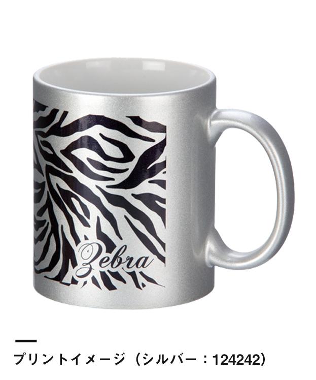 フルカラー転写対応陶器マグカップ(320ml)(124143-124242)プリントイメージ(シルバー:124242)