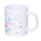 フルカラー転写用マグカップ(マット/350ml)(白)(163548)フルカラー印刷可能