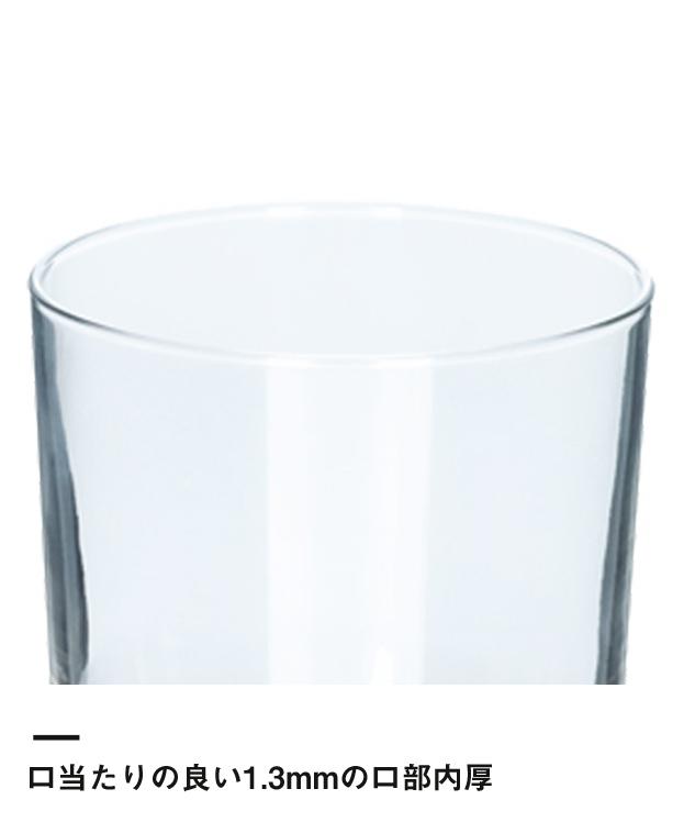 ライトロックグラス(245ml)(クリア)(190742)口当たりの良い1.3mmの口部内厚