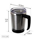 アトラス 中空ステンレスマグカップ330ml(ACM-330)アイテムサイズ