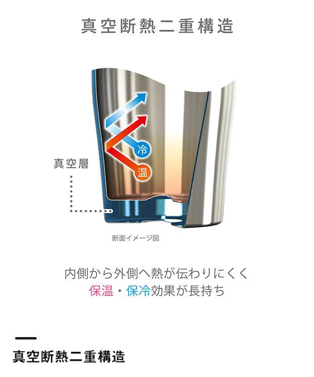 アトラス Sinqs真空ステンレスメガジョッキ800mlミラー仕上げ(ASJ-802MR)真空断熱二重構造