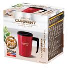 アトラス CURRENT フタ付きコーヒーマグカップ 330ml(ASM-330)個装パッケージ