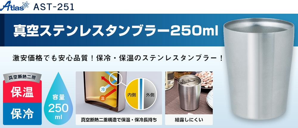 アトラス Sinqs真空ステンレスタンブラー250ml(AST-251)1カラー・容量(ml)250