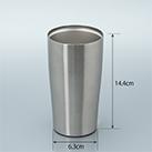 アトラス 真空ステンレスタンブラー450ml(AST-451)アイテムサイズ