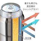 アトラス Wens 缶ホルダー 500ml(AWCH-500)暑さも寒さも真空層がシャットアウト!