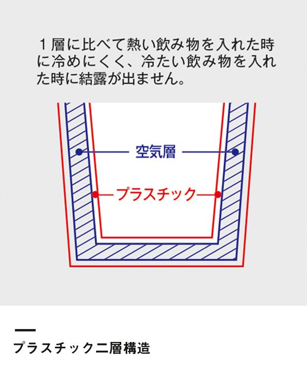カスタムデザインタンブラーFC 500ml(TS-0617)プラスチック二層構造
