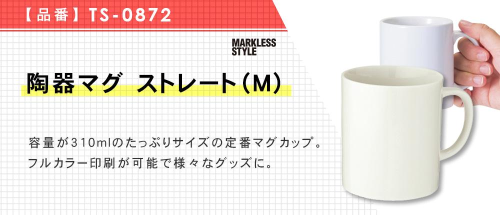 陶器マグ ストレート(M)(TS-0872)4カラー・容量(ml)310