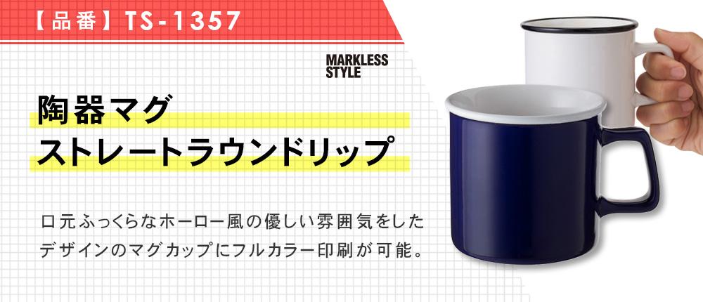 陶器マグ ストレートラウンドリップ(TS-1357)5カラー・容量(ml)270