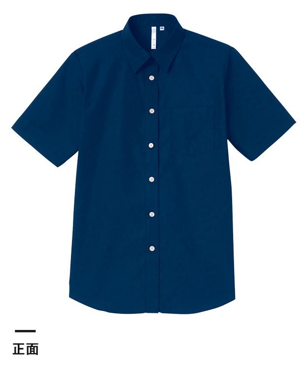 半袖ブロードシャツ(レディース)(00810-SBL)正面