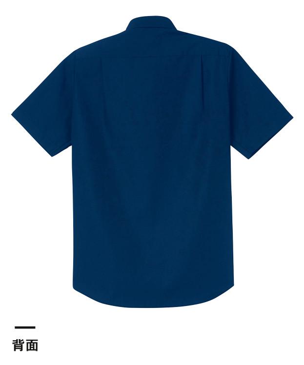 半袖ブロードシャツ(レディース)(00810-SBL)背面